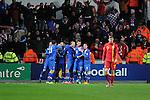 FIFA 2014 World Cup Qualifier - Wales v Croatia - Swansea - 26th March 2013 : Croatia players celebrate their second goal as Wales Simon Church walks away.