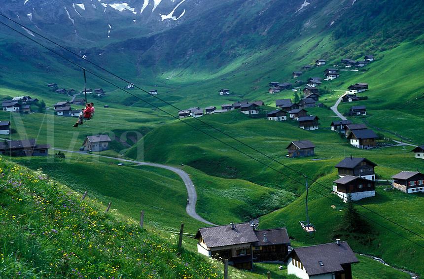 AJ2209, Liechtenstein, Alps, mountains, valley, Malbun, Europe, Scenic view of the alpine winter and summer resort of Malbun.