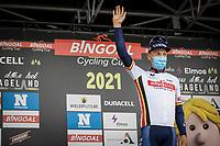 Bingoal Cycling Cup leader Tim Merlier (BEL/Alpecin-Fenix)<br /> <br /> 17th Dwars Door Het Hageland 2021<br /> One Day Race: Aarschot – Diest 18Okm (UCI 1.Pro)<br /> Bingoal Cycling Cup 2021<br /> <br /> ©kramon