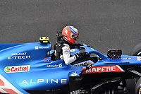 8th October 2021; Formula 1 Turkish Grand Prix 2021 free practise at the Istanbul Park Circuit, Istanbul;  Esteban Ocon FRA 31, Alpine F1 Team as his car stalls and towed back to the garage
