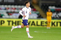 SWANSEA, WALES - NOVEMBER 12: Nicholas Gioacchini #9 of the United States enters the field of play during a game between Wales and USMNT at Liberty Stadium on November 12, 2020 in Swansea, Wales.