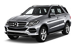 2018 Mercedes Benz GLE Base 5 Door SUV angular front stock photos of front three quarter view