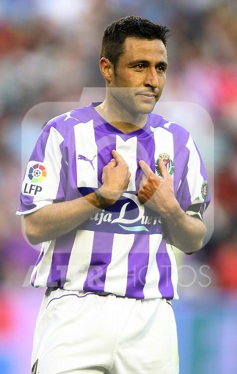 Real Valladolid's Alberto Marcos during La Liga match.April 4 2009. (ALTERPHOTOS/Acero).