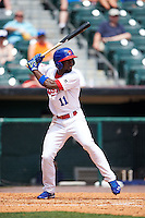 Buffalo Bisons outfielder Melky Mesa (11) at bat during a game against the Columbus Clippers on July 19, 2015 at Coca-Cola Field in Buffalo, New York.  Buffalo defeated Columbus 4-3 in twelve innings.  (Mike Janes/Four Seam Images)