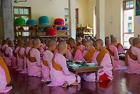 Sat khya di tar Nunnery/Monastery Sagaing, Mandalay, Myanmar. Burma.