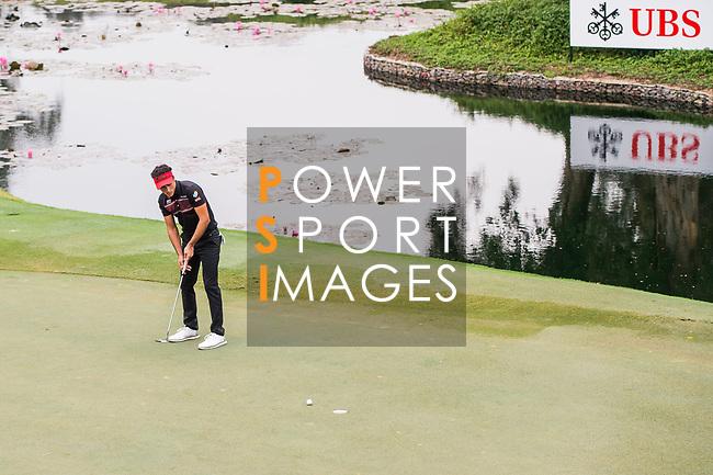 Carlos Pigem of Spain plays a shot during the day three of UBS Hong Kong Open 2017 at the Hong Kong Golf Club on 25 November 2017, in Hong Kong, Hong Kong. Photo by Marcio Rodrigo Machado / Power Sport Images