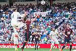 Real Madrid's player Gareth Bale and /Karim Benzema and Eibar FC's player Antonio Luna and Pedro Leon Sanchez during a match of La Liga Santander at Santiago Bernabeu Stadium in Madrid. October 02, Spain. 2016. (ALTERPHOTOS/BorjaB.Hojas)