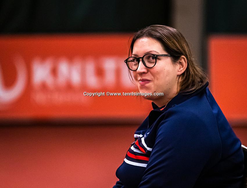 Wateringen, The Netherlands, December 15,  2019, De Rhijenhof , NOJK juniors doubles , Lineswoman<br /> Photo: www.tennisimages.com/Henk Koster