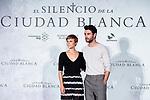 Actress Aura Garrido and actor Javier Rey attends presentation of 'El silencio de la Ciudad Blanca' during FestVal in Vitoria, Spain. September 05, 2018. (ALTERPHOTOS/Borja B.Hojas)