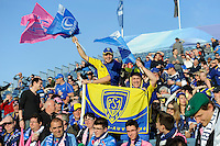 Clermont fans soak up the atmosphere before the Amlin Challenge Cup Final between Leinster Rugby and Stade Francais at the RDS Arena, Dublin on Friday 17th May 2013 (Photo by Rob Munro).