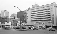 Site de la future station de métro Guy (Guy-Concordia), Novembre 1961