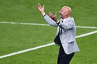 6th July 2021; Wembley Stadium, London, England; Euro 2020 Football Championships semi-final, Italy versus Spain;  Gianluca Vialli celebrates the win