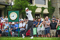 4th June 2021; Dublin, Ohio, USA; Rory McIlroy (NIR) watches his tee shot on 10 during the Memorial Tournament Rd2 at Muirfield Village Golf Club on June 4, 2021 in Dublin, Ohio.