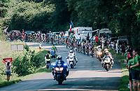peloton nearing the feedzone<br /> <br /> Stage 18: Trie-sur-Baïse > Pau (172km)<br /> <br /> 105th Tour de France 2018<br /> ©kramon