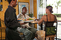 Diners at the Blue Moon Cafe<br /> Fredericksted, St Croix<br /> U.S. Virgin Islands