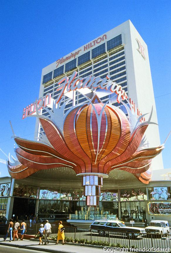 Las Vegas: The Flamingo Hilton. Photo'79.