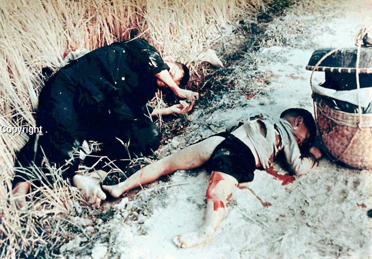 March 16, 1968. <br /> <br /> <br /> The My Lai Massacre ( was the mass murder of 347 to 504 unarmed citizens of the Republic of Vietnam (South Vietnam), almost entirely civilians and the majority of them women and children, conducted by U.S. Army forces on March 16, 1968. Some of the victims were sexually abused, beaten, tortured, or maimed, and some of the dead bodies were mutilated.[1] The massacre took place in the hamlets of My Lai and My Khe of Son M? village during the Vietnam War.[2][3] The My Lai Massacre is a notorious operation of the controversial Phoenix Program.[4]<br /> <br /> The incident prompted widespread outrage around the world. The massacre also reduced U.S. support at home for the Vietnam War.