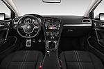 Stock photo of straight dashboard view of 2015 Volkswagen Golf Alltrack 5 Door Wagon Dashboard