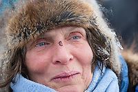 Cindy Gallea portrait at the finish line in Nome on Sunday  March 22, 2015 during Iditarod 2015.  <br /> <br /> (C) Jeff Schultz/SchultzPhoto.com - ALL RIGHTS RESERVED<br />  DUPLICATION  PROHIBITED  WITHOUT  PERMISSION