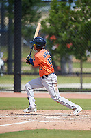 Houston Astros Jonathan Arauz (10) during a Minor League Spring Training Intrasquad game on March 28, 2018 at FITTEAM Ballpark of the Palm Beaches in West Palm Beach, Florida.  (Mike Janes/Four Seam Images)