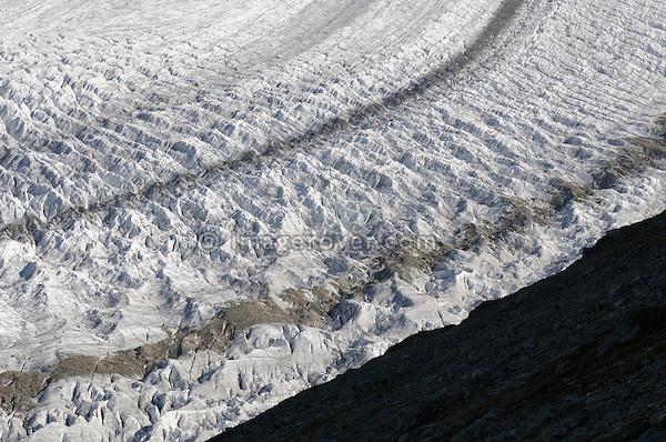 Switzerland, Valais, Western Europe, Jungfrau Region, Aletsch Glacier (UNESCO world heritage site) nr. Bettmerhorn.