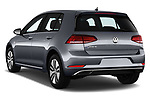 Car pictures of rear three quarter view of 2017 Volkswagen Golf e 5 Door Hatchback Angular Rear