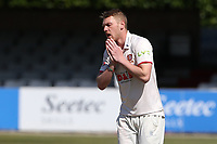 Frustration for Jamie Porter of Essex during Essex CCC vs Durham CCC, LV Insurance County Championship Group 1 Cricket at The Cloudfm County Ground on 18th April 2021