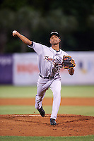 Lakeland Flying Tigers relief pitcher Johan Belisario (35) delivers a pitch during a game against the Tampa Yankees on April 8, 2016 at George M. Steinbrenner Field in Tampa, Florida.  Tampa defeated Lakeland 7-1.  (Mike Janes/Four Seam Images)