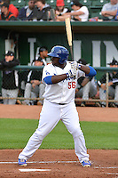 Justin Chigbogu (56) of the Ogden Raptors at bat against the Grand Junction Rockies during Opening Night of the Pioneer League Season on June 16, 2014 at Lindquist Field in Ogden, Utah. (Stephen Smith/Four Seam Images)