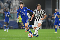29th September 2021; Turin, Italy;   Matthijs de Ligt of Juventus FC competes for the ball with Kai Havertz of Chelsea during the UEFA Champions League;  group H match between Juventus and Chelsea at the Juventus Stadium, Turin, Italy