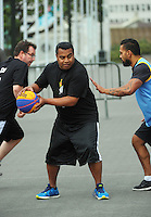 3x3 Basketball - NZ Parliamentarians v NZ Media at Parliament, Wellington, New Zealand on Friday, 11 March 2016. Photo: Dave Lintott / lintottphoto.co.nz