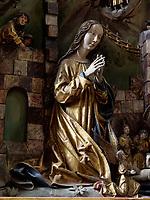 Altar der Weberzunft-Altar der Geburt des Herrn, gotische Kirche St. Ägidius-bazilika sv.Egidia, Bardejov, Presovsky kraj, Slowakei, Europa, UNESCO-Weltkulturerbe<br /> Altar of weaver's guild, Altar of the birth of the Lord in gothic church St. Ägidius-bazilika sv.Egidia, Bardejov, Presovsky kraj, Slovakia, Europe, UNESCO-world heritage