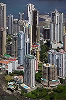 aerial photograph of residential high rise towers, Punta Patilla, Panama City, Panama | fotografía aérea de las torres residenciales de gran altura de Punta Patilla, Panamá