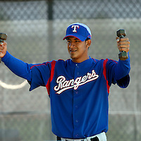 Wilfredo Boscan  - Texas Rangers - 2009 spring training.Photo by:  Bill Mitchell/Four Seam Images