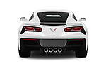 Straight rear view of 2019 Chevrolet Corvette-Stingray 3LT 2 Door Coupe Rear View  stock images
