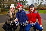 Shane, Nathan and Debra Galvin enjoying a stroll in the Tralee town park on Sunday.