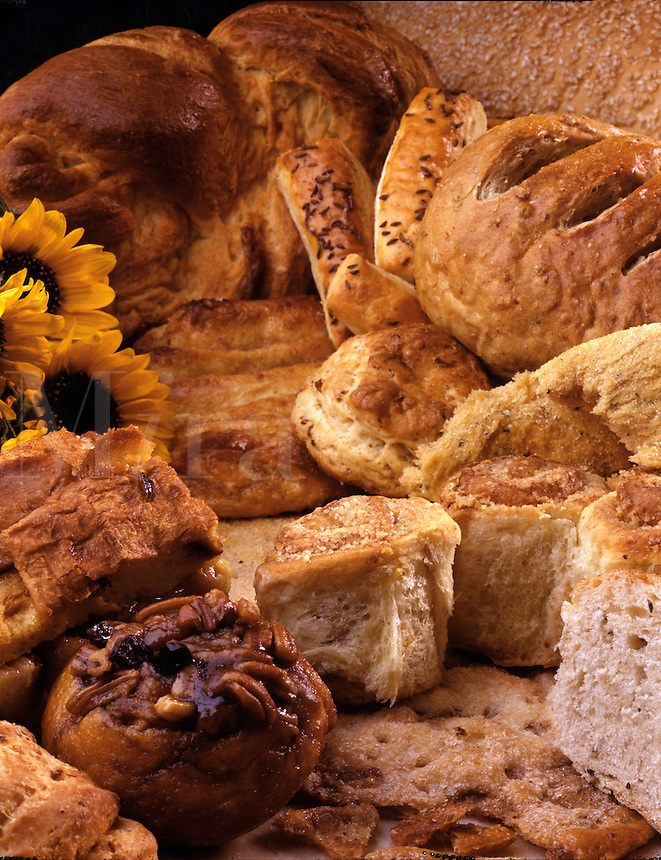 A group of breakfast breads