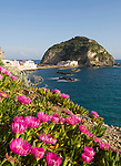 ITA, Italien, Kampanien, Ischia, vulkanische Insel im Golf von Neapel, Blick auf Sant' Angelo mit vorgelagerter, kleiner Insel | ITA, Italy, Campania, Ischia, volcanic island at the Gulf of Naples, view at Sant' Angelo