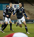 Raith's Brian Graham celebrates after he scores Rovers' first    ...