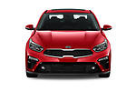 Car photography straight front view of a 2020 KIA Forte EX 4 Door Sedan