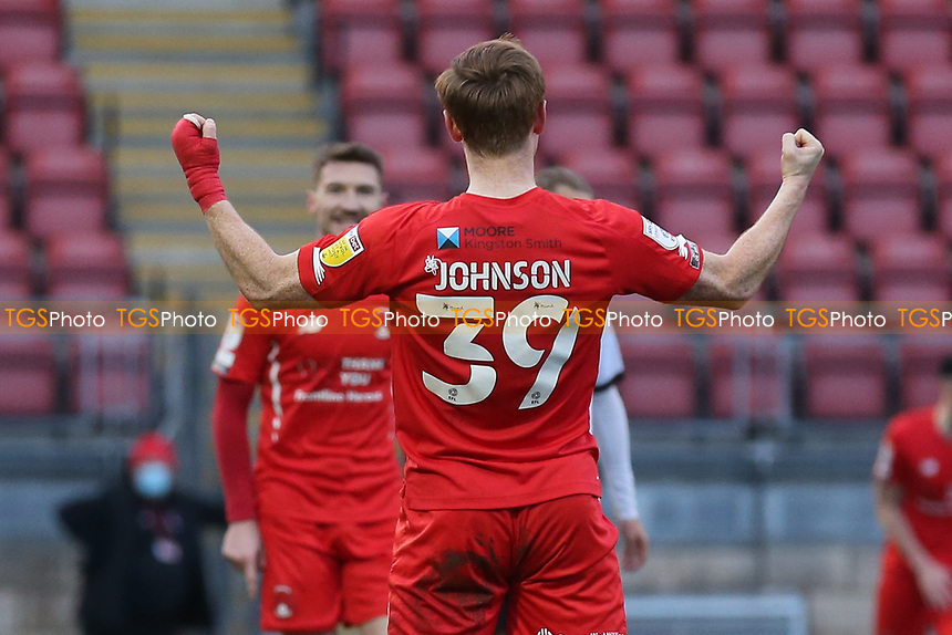 Danny Johnson of Leyton Orient scores the first goal for his team and celebrates during Leyton Orient vs Salford City, Sky Bet EFL League 2 Football at The Breyer Group Stadium on 2nd January 2021