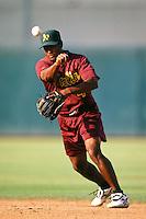 Dyonis Cesar of the Visalia Oaks during a California League baseball game circa 1999. (Larry Goren/Four Seam Images)