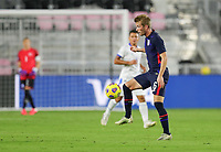 FORT LAUDERDALE, FL - DECEMBER 09: Jackson Yueill #6 of the United States traps a ball during a game between El Salvador and USMNT at Inter Miami CF Stadium on December 09, 2020 in Fort Lauderdale, Florida.