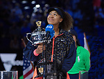 Naomi Osaka Proudly Displays Trophy