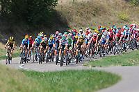 15th September 2020; Lyon, France; Tour De France 2020, La Tour-du-Pin to Villard-de-Lans, stage 16; The peloton comes through corners