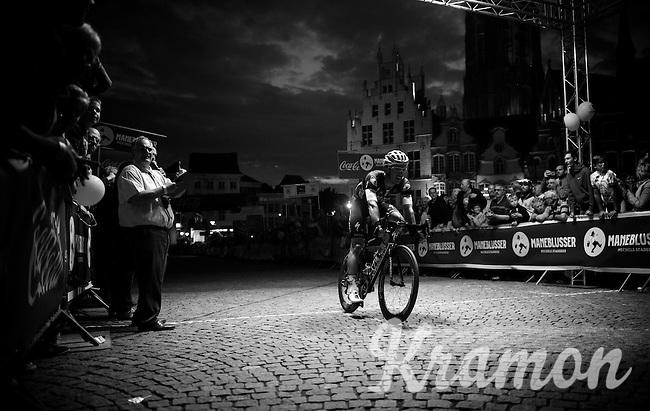 Iljo Keisse (BEL/Etixx-QuickStep) crossing the finish line in 5th<br /> <br /> Post-Tour Criterium Mechelen (Belgium) 2016