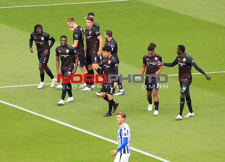 17.10.2020, OLympiastadion, Berlin, GER, DFL, 1.FBL, Hertha BSC VS. VfB Stuttgart, <br /> DFL  regulations prohibit any use of photographs as image sequences and/or quasi-video<br /> im Bild 0:1 durch  Marc-Oliver Kempf (VfB Stuttgart #4), <br /> <br />     <br /> Foto © nordphoto /  Engler