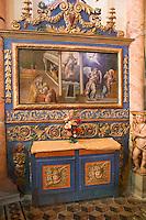 Europe/France/Rhone-Alpes/73/Savoie/Saint-Martin-de-Belleville: Chapelle Notre-Dame-de-la-Vie -détail d'un petit autel baroque