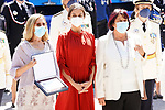 Queen Letizia of Spain with members of the first female promotion of the Municipal Police of Madrid during the act on the occasion of the festival of 'San Juan Bautista'. June 24, 2021 (ALTERPHOTOS/Acero)