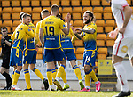 St Johnstone v Brechin City…10.10.20   McDiarmid Park  Betfred Cup<br />Stevie May celebrates his goal<br />Picture by Graeme Hart.<br />Copyright Perthshire Picture Agency<br />Tel: 01738 623350  Mobile: 07990 594431